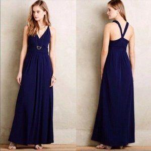 Anthropologie   Maeve Navy Maxi Yuma Dress Size 10